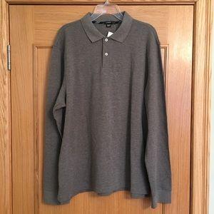NWT J. Crew Long Sleeve Classic Polo Shirt Size XL